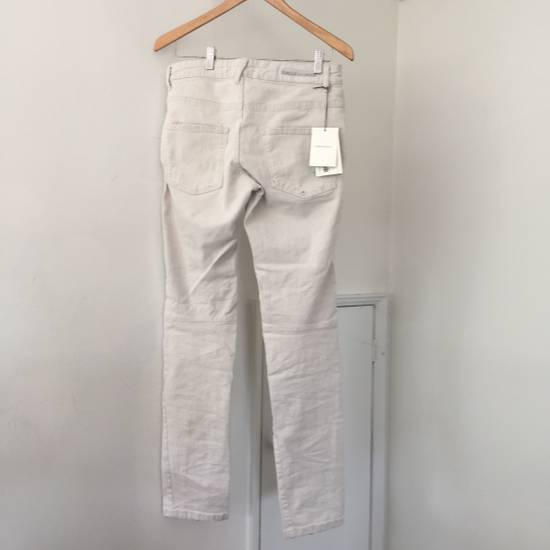 Balmain Distressed off-white biker jeans (NWT) Size US 31 - 1