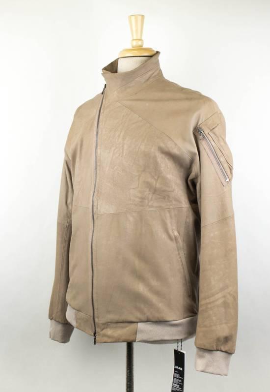 Julius 7 Men's Brown Lamb Skin Leather Zip-Up Jacket Size 3/M Size US M / EU 48-50 / 2 - 1