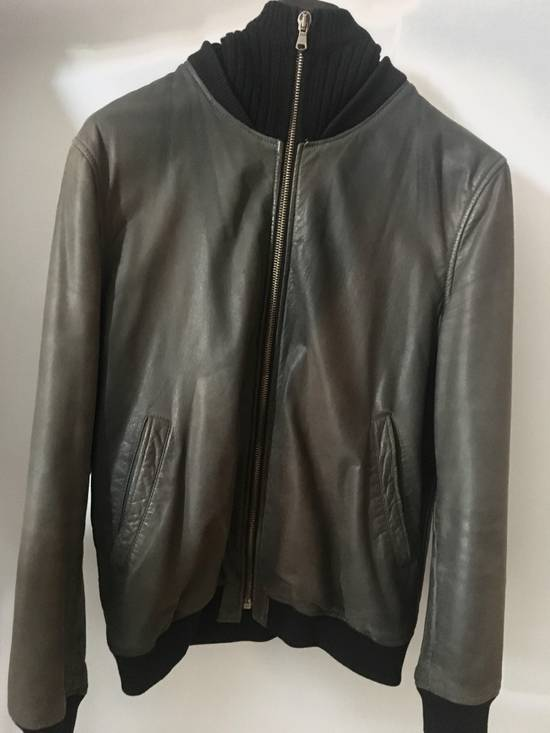 Givenchy Bomb Leather Jacket Hoodie RARE Cap Size US M / EU 48-50 / 2