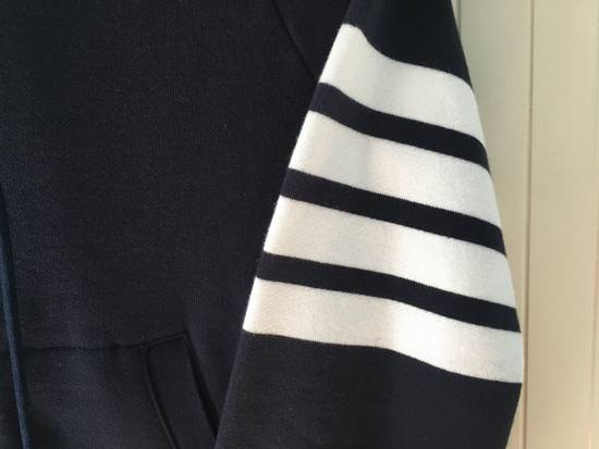 Thom Browne Navy Classic Hoodie w/Engineered 4-Bar Arm Stripe Size US S / EU 44-46 / 1 - 3