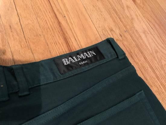 Balmain Balmain Biker Jeans Green Cotton Size US 31 - 5