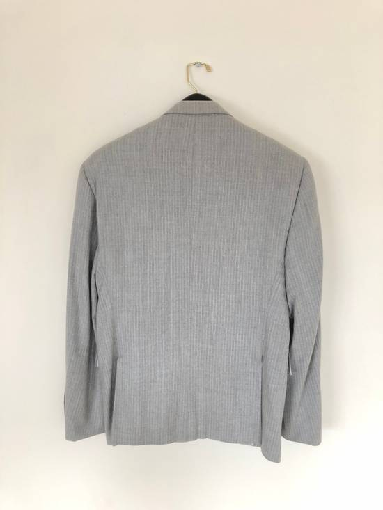 Thom Browne THOM BROWNE FLEECE SUIT IN LT. GRAY/WHITE PINSTRIPE (NEW & UNTAILORED) Size 40R - 1