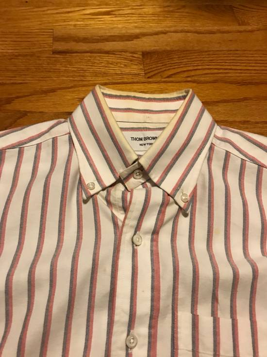 Thom Browne Striped Dress Shirt Size US S / EU 44-46 / 1 - 1