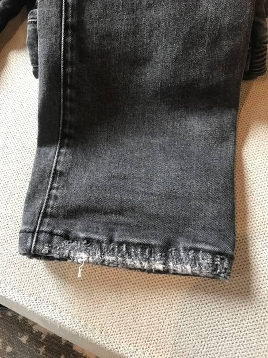 Balmain Balmain Black Distressed Knee Ripped Biker Jeans Size US 30 / EU 46 - 6