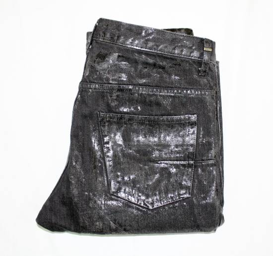 Dior Dior Homme FW04 Black Waxed 19cm Denim Jeans Size US 29 - 5