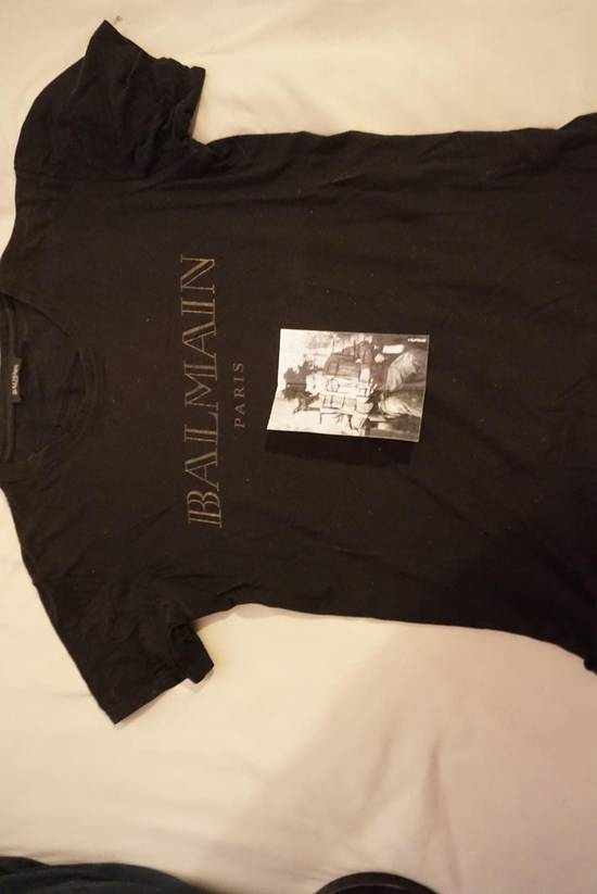 Balmain Balmain Black and Gold logo T-shirt Size US XS / EU 42 / 0 - 1