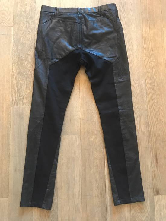 Julius Leather And Denim Pants Size US 32 / EU 48 - 1