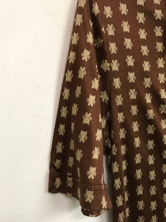 Givenchy Luxury Designer GIVENCHY Gentleman Paris Made in France Atomic Print Retro Collar Shirt Size US M / EU 48-50 / 2 - 1