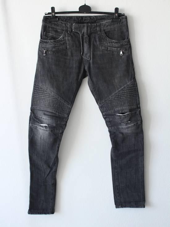 Balmain Skinny Knee Rips Biker Jeans Size US 30 / EU 46