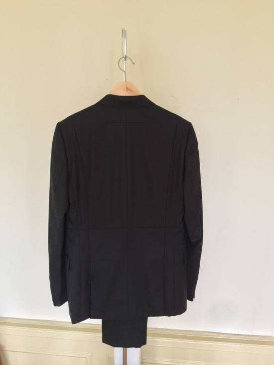 Givenchy Black Herringbone Wool Blazer Slim-Fit Full Suit Size 38R - 5