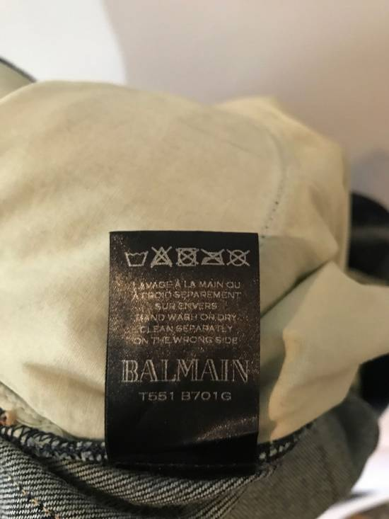 Balmain Balmain Geometric Quilted Paneled Biker Denim Jeans Size 32 Size US 32 / EU 48 - 6