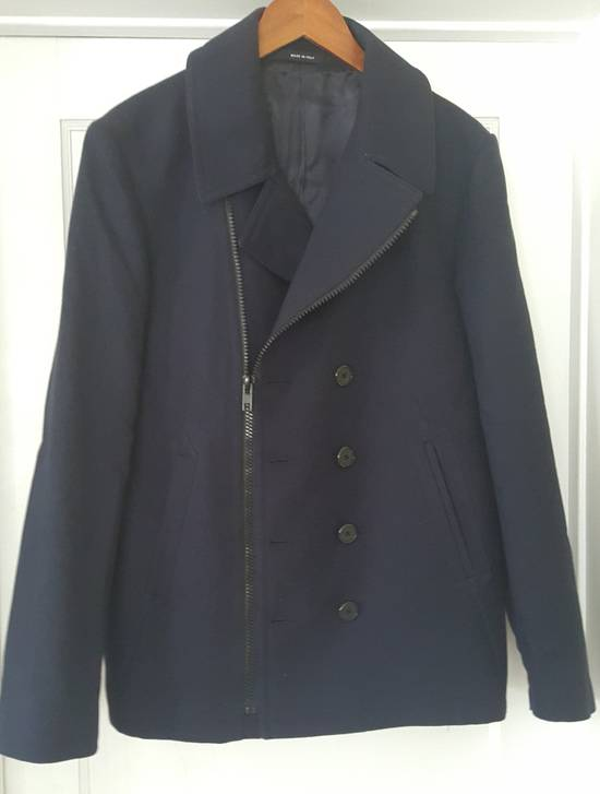Givenchy Givenchy Navy Cotton Zipped Biker Peacoat Jacket Size 50 Size US M / EU 48-50 / 2 - 1