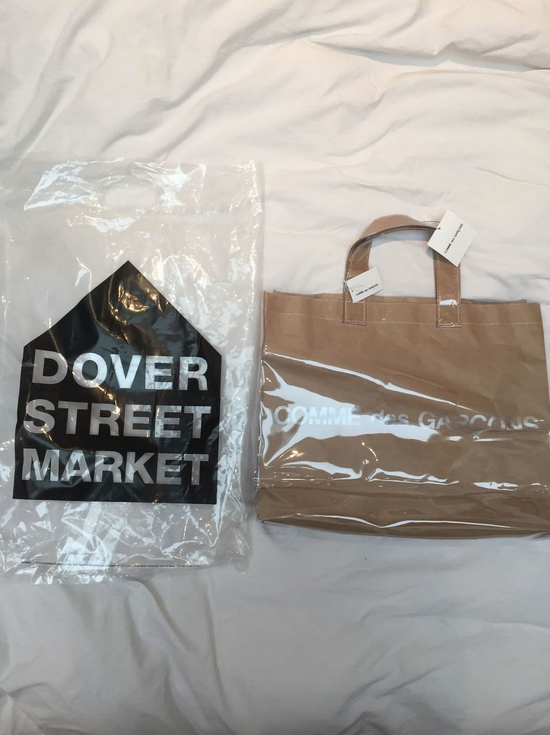 Comme des Garcons PVC Brown Paper Bag Tote Bag Size ONE SIZE