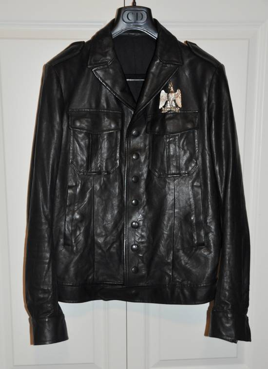 Balmain Black leather jacket Decarnin Size US M / EU 48-50 / 2 - 2