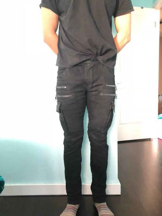 Balmain Black Waxed Bikerjeans Size US 31 - 8