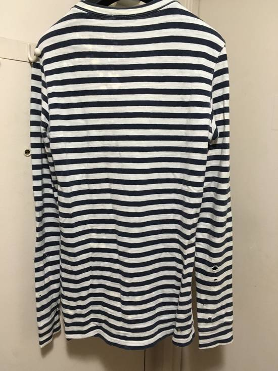Balmain AW10 Destroyed Breton Shirt Size US XS / EU 42 / 0 - 3
