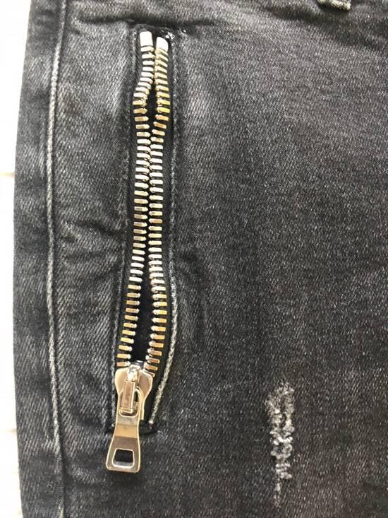 Balmain Black Balmain Biker Distressed Jeans Size US 32 / EU 48 - 3