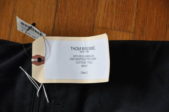Thom Browne Navy Unstructured Chino Size US 31 - 7