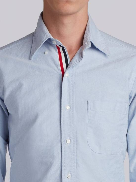 Thom Browne brand new blue shirt with cosgrain Size US XL / EU 56 / 4 - 1