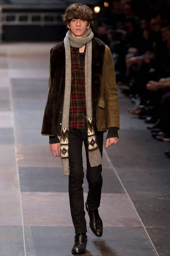 Saint Laurent Paris Hedi's Personal Suede and Shearling Coat Size US S / EU 44-46 / 1 - 10