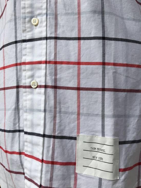 Thom Browne Red/Blue Windowpane Oxford Shirt L/S Size US S / EU 44-46 / 1 - 6