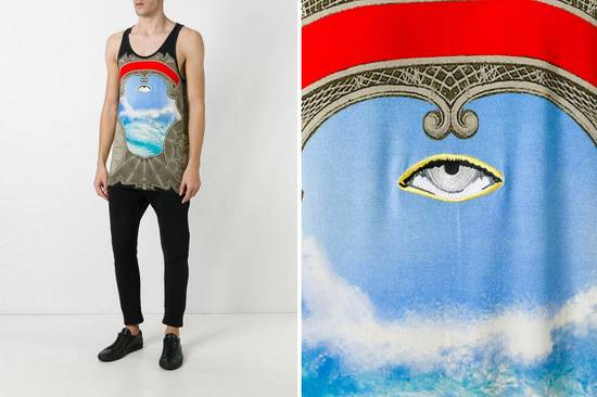 Givenchy $850 Givenchy Eye in the Sky Ocean Print Rottweiler Shark Tank Top Vest size L Size US L / EU 52-54 / 3 - 3