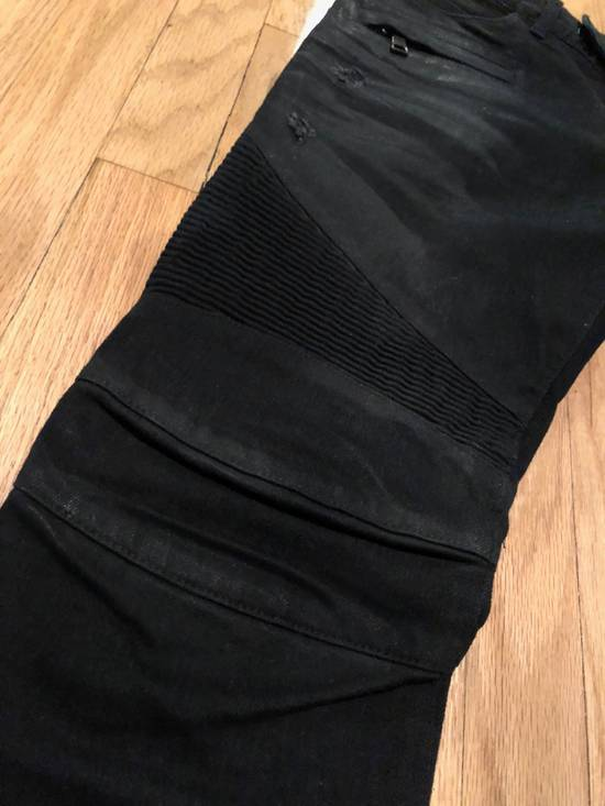 Balmain Balmain Biker Jeans Black Distressed Size US 32 / EU 48 - 1