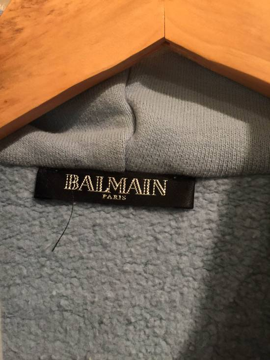 Balmain Sky Blue Dual Zip Hoodie Size US M / EU 48-50 / 2 - 1