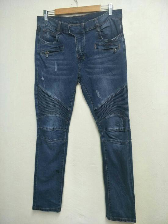 Balmain Vintage BALMAIN punk design denim jeans Size US 34 / EU 50