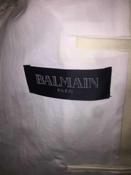 Balmain White Tuxedo jacket Size 48S - 4