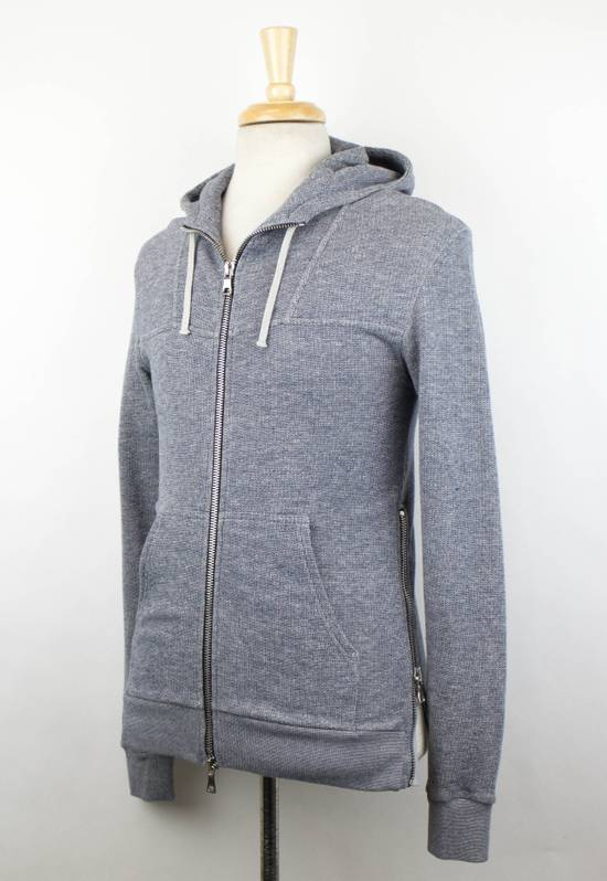 Balmain Men's Gray Cotton Blend Zip-Up Hooded Sweater Size XS Size US XS / EU 42 / 0 - 1