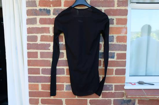 Balmain Black Ribbed Knit Long Sleeve T-shirt Size US S / EU 44-46 / 1 - 10
