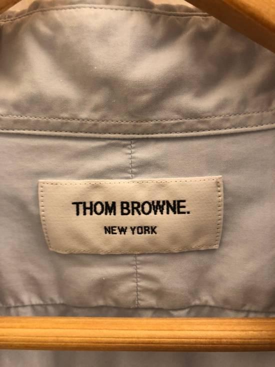 Thom Browne GROSGRAIN PLACKET SOLID POPLIN SHIRT Size US M / EU 48-50 / 2 - 1