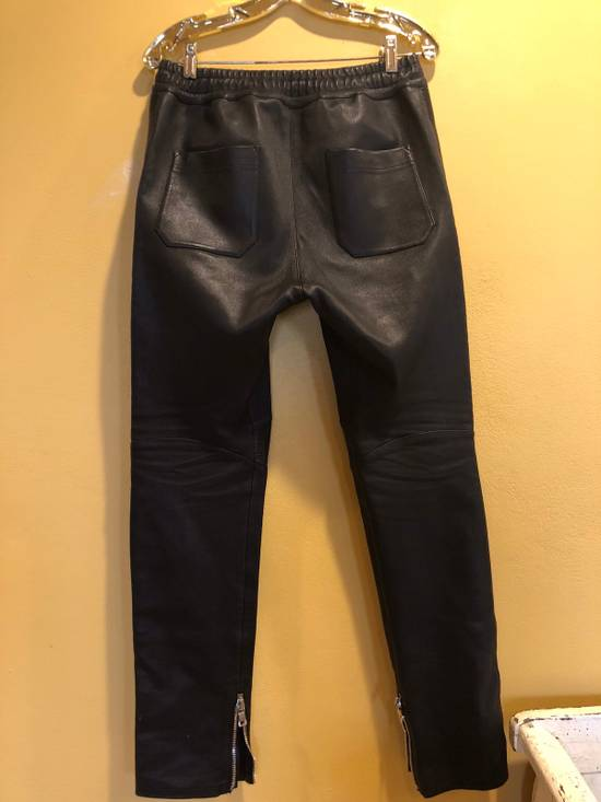 Balmain Slim Fit Biker Style Leather Sweatpants Size US 34 / EU 50 - 6