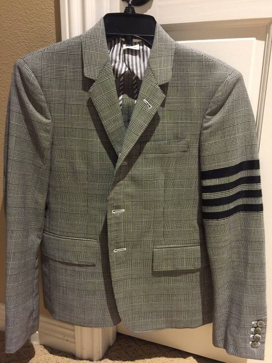 Thom Browne Rare Black Arm Stripe Blazer Size 38R