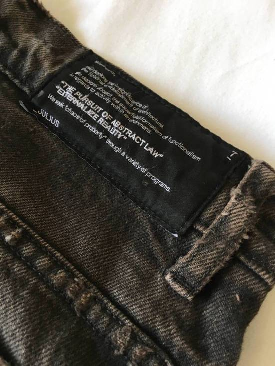 Julius Japan made cropped wrinkle and dirt effect distressed frayed hem Jeans Size US 28 / EU 44 - 16