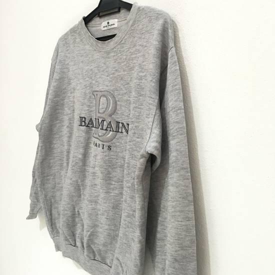 Balmain Vtg PIERRE BALMAIN PARIS Big Logo Made In JAPAN Gray MEDIUM Sweatshirt Jumper Size US M / EU 48-50 / 2 - 3
