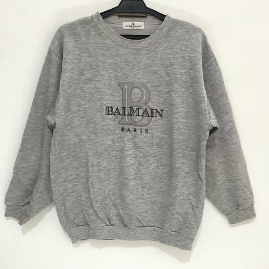 Balmain Vtg PIERRE BALMAIN PARIS Big Logo Made In JAPAN Gray MEDIUM Sweatshirt Jumper Size US M / EU 48-50 / 2