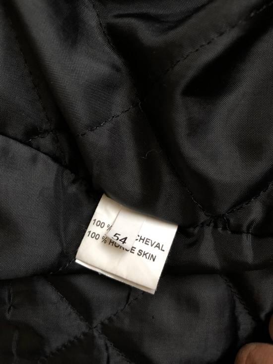 Balmain Black Horse Leather Double Rider Jacket Size US L / EU 52-54 / 3 - 12