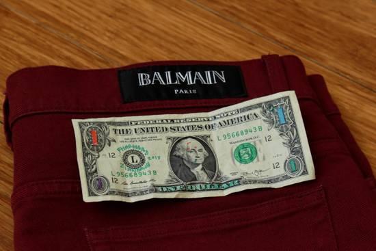 Balmain Embroidered Trim Slim Jeans Size US 32 / EU 48 - 1
