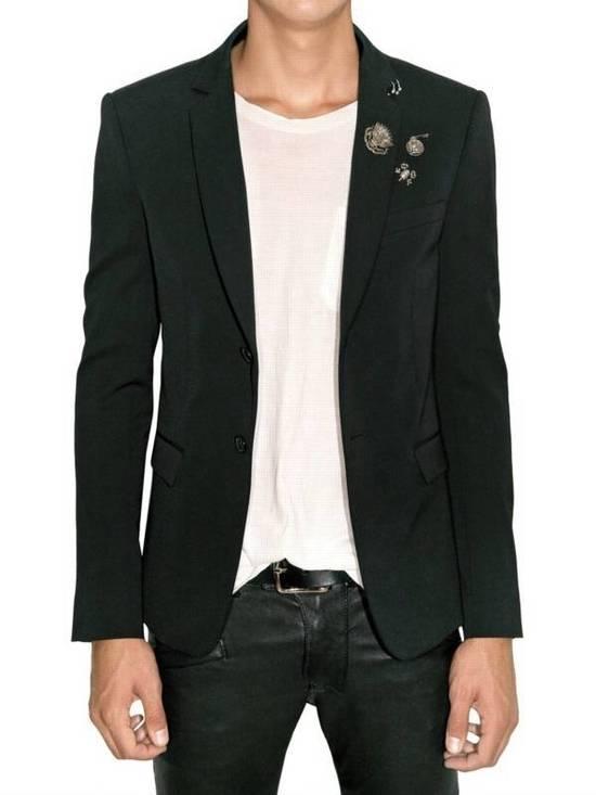 Balmain SS11 Campaign Decarnin Era Striped Pins Blazer Size 50R - 3