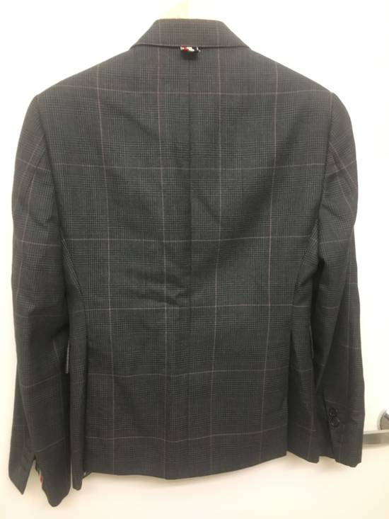 Thom Browne Thom Browne Prince of Wales w/ Red/White Overcheck Size 00 Size 34S - 3