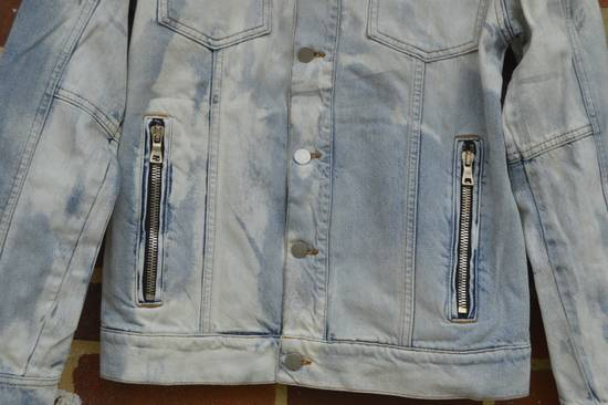 Balmain Light Blue Distressed Denim Jacket Size US S / EU 44-46 / 1 - 4