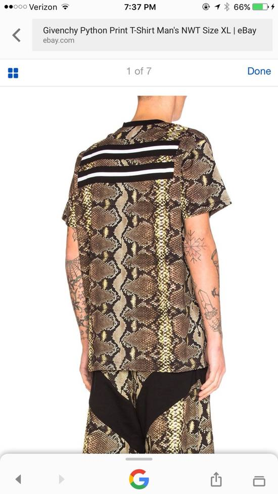 Givenchy Snakeskin Print Cotton T-Shirt Size US XL / EU 56 / 4 - 17