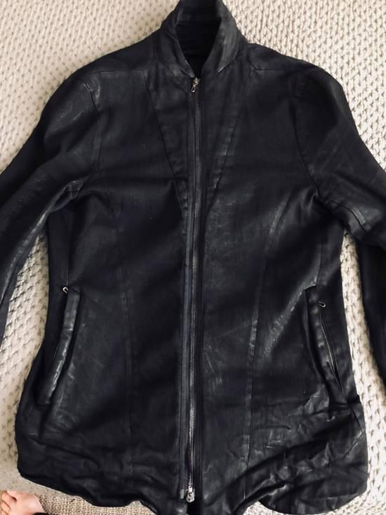 Julius MEN'S BLACK WAXED DENIM JACKET Size US XXL / EU 58 / 5 - 11