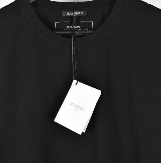 Balmain Paris Men Black Crew Neck T-Shirt, NWT Size US M / EU 48-50 / 2 - 3