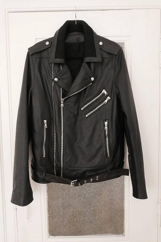 Balmain AW15 black leather biker jacket Size US L / EU 52-54 / 3 - 1