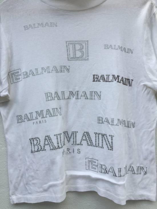 Balmain Vintage Balmain Script Logo Tshirt Size US S / EU 44-46 / 1 - 9