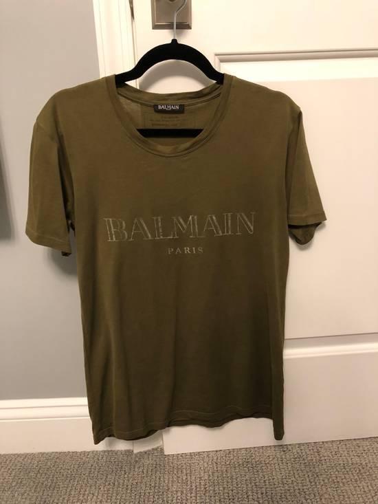 Balmain Balmain SS17 Army Logo T-Shirt Size US XS / EU 42 / 0 - 5