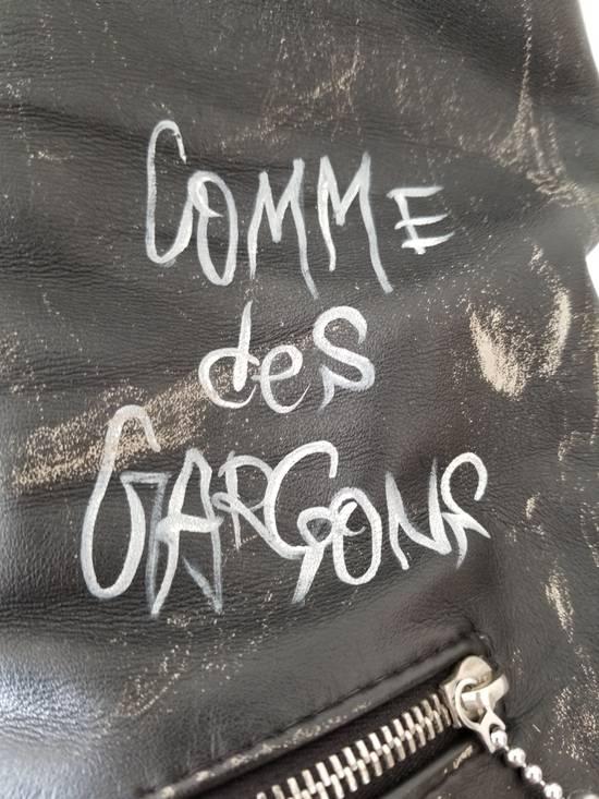 "Comme des Garcons ""Live Free Die Strong"" Leather jacket Size US XS / EU 42 / 0 - 2"